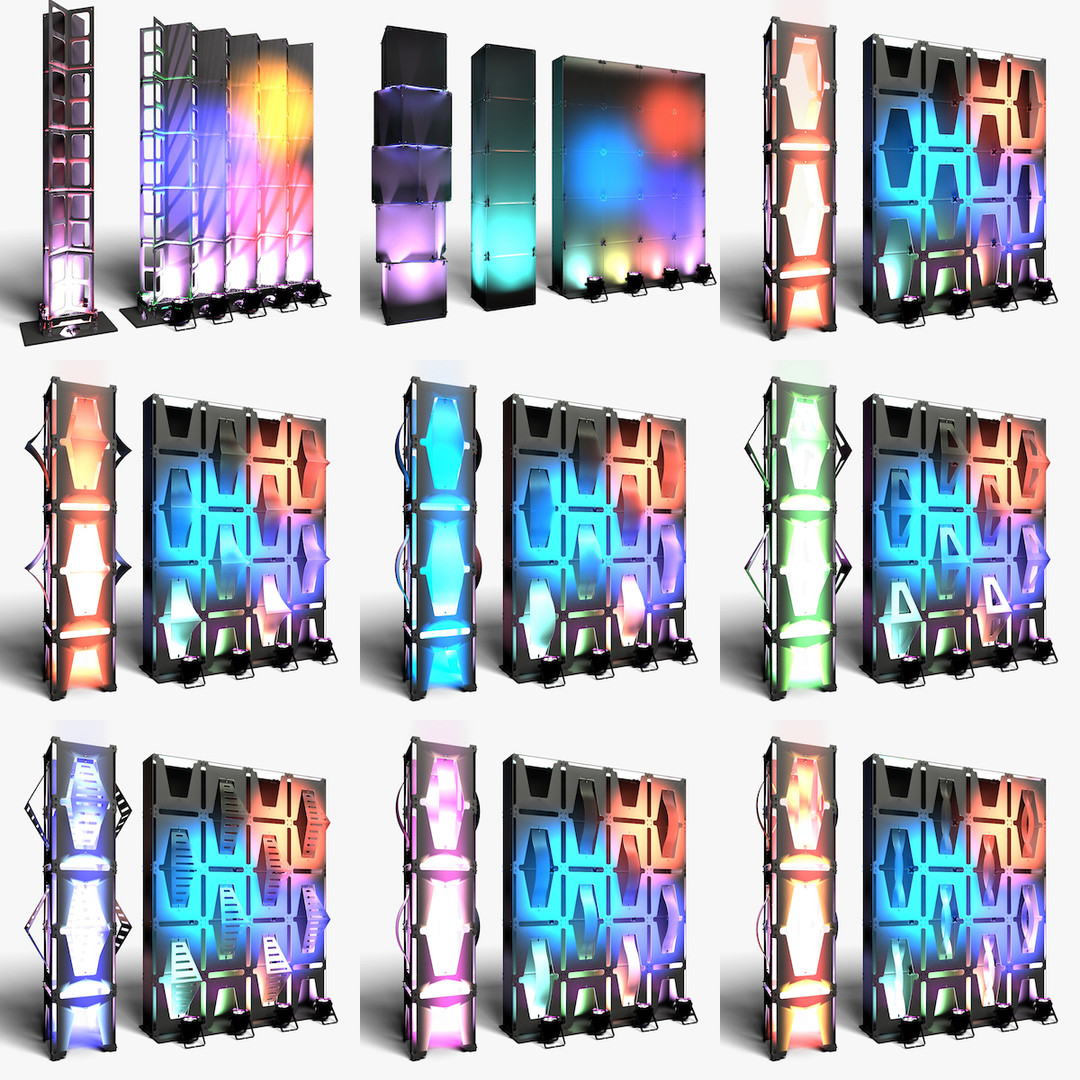 Stage Decor Collection 04 (Modular Wall Column 9 Pieces)