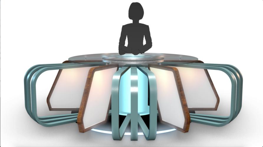 TV Studio News Desk 7
