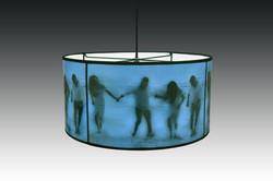 Splash blue pendant
