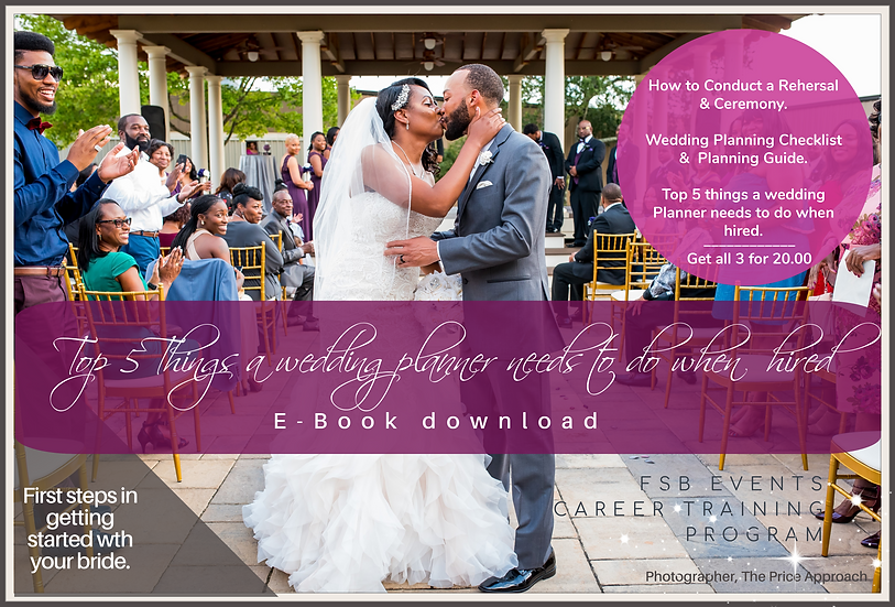Top 5 things a wedding planner needs to do when hired E-Book