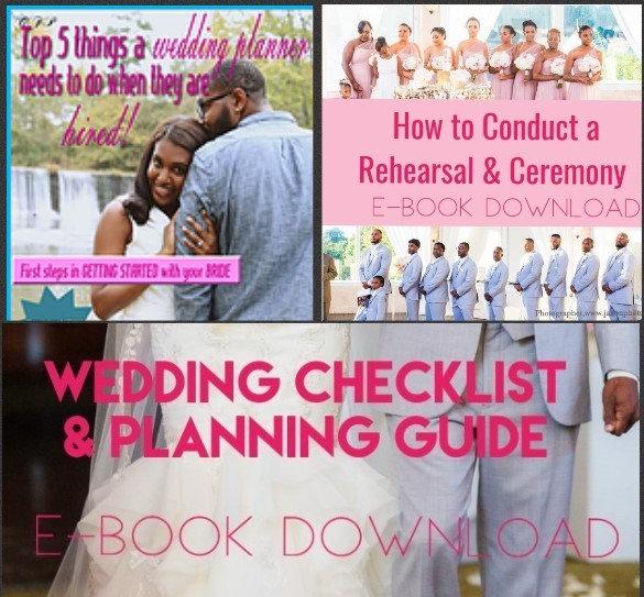 All 3 E-books / Top 5 things/ How to Rehearsal/ Wedding Checklist E-Book