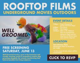 Rooftop Films Series: Well Groomed Invitation