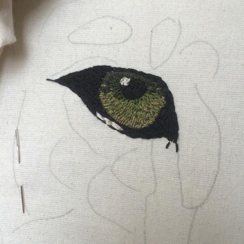 Aslan's Eye Embroidered