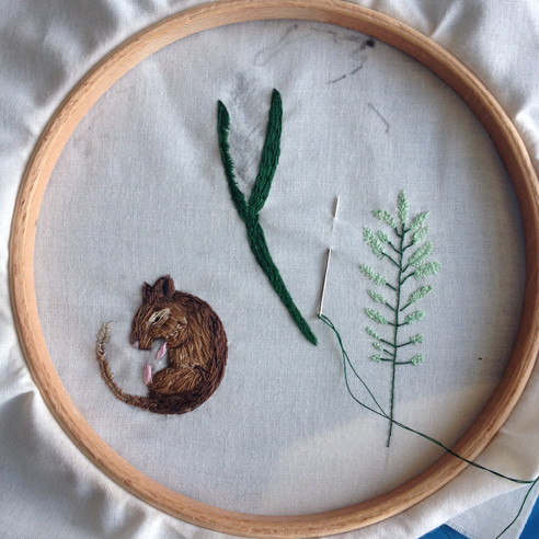 Mouse Embroidery