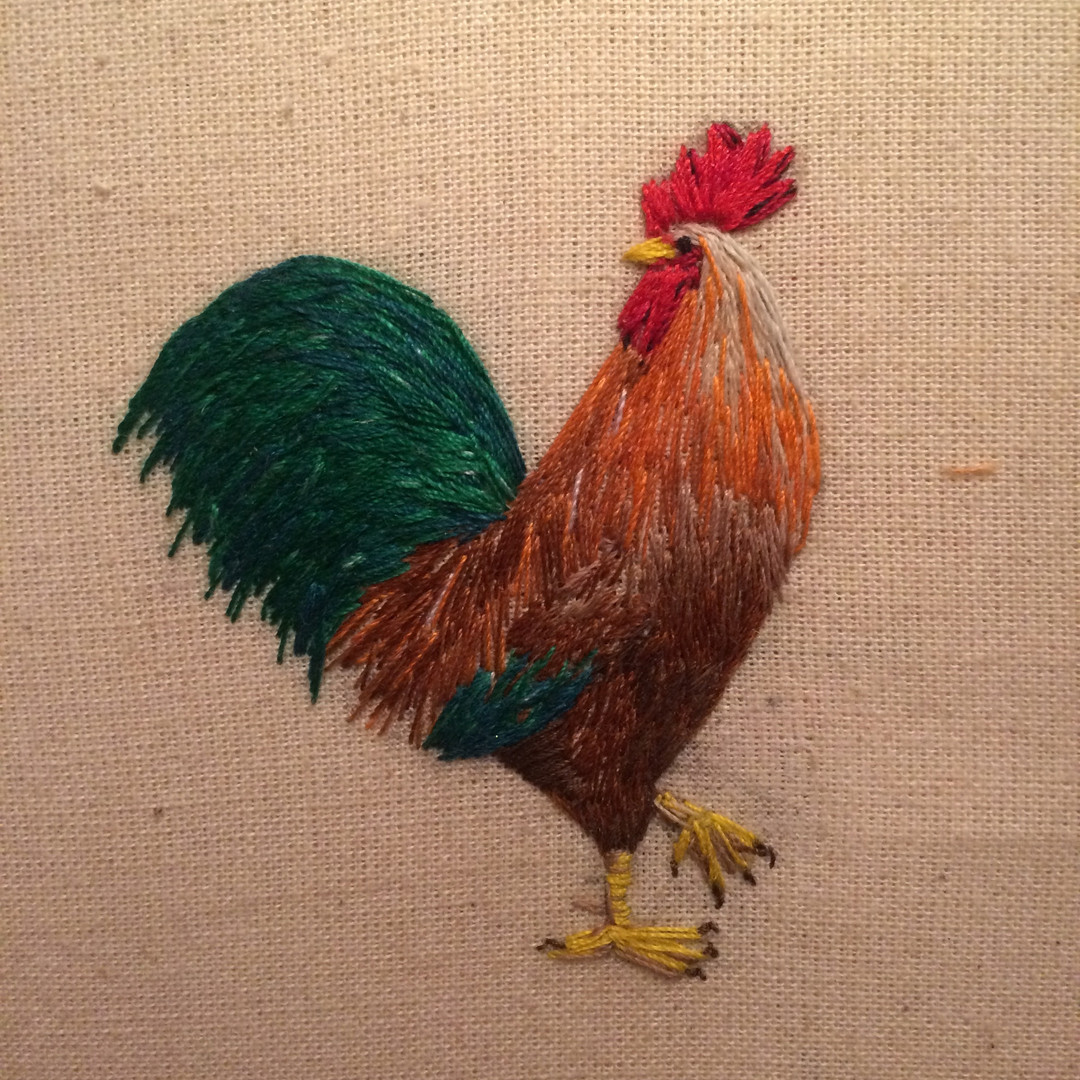 Cockerel Embroidery