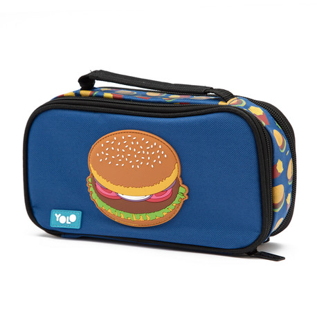 Suitcase food hamburger
