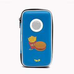 Speaker case hamburger