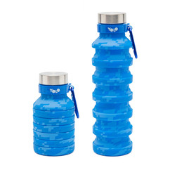 Silicon pixelated blue bottle