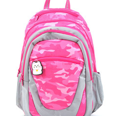 2 in 1 Camouflage backpack pink
