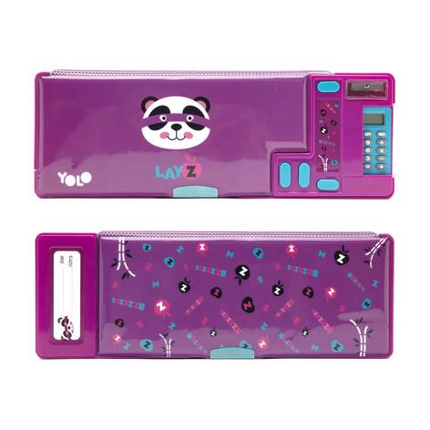 Retro calculator hero panda