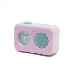 My voice recording clock pastel pink