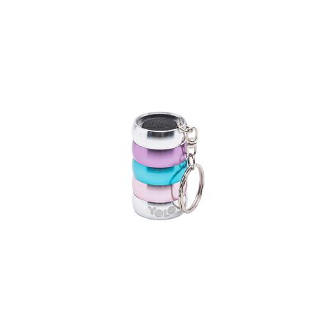 Mini flashlight key ring pink