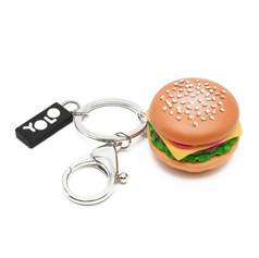Mini hamburger key ring