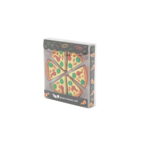 Pizza erasers tray