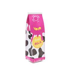 Milk carton pencil case pink