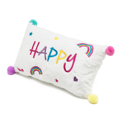 Happy trainbow pillow