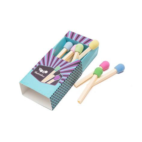 Match box erasers set