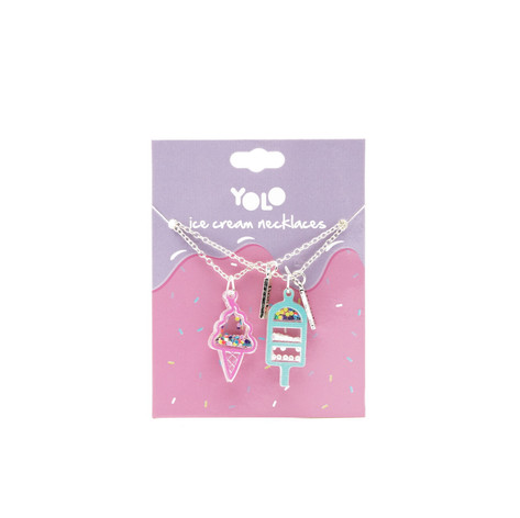 BFF ice cream necklace set