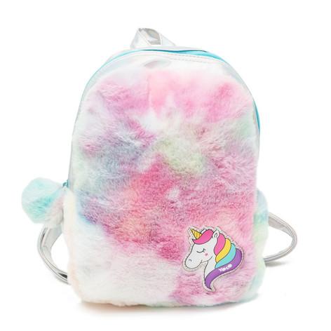 Rainbow plush rainbow fashion bag