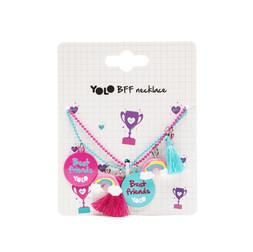 BFF rainbow necklace set