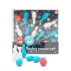 Bowling erasers set