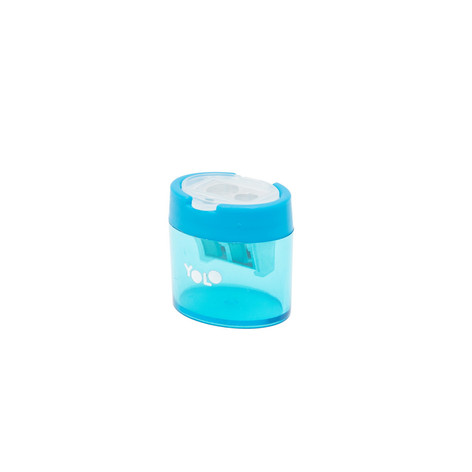 Small container sharpener blue