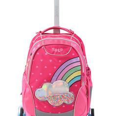 Trolly school bag rainbow