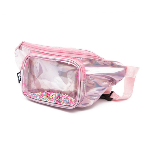 Waist pouch with sprinkles pink