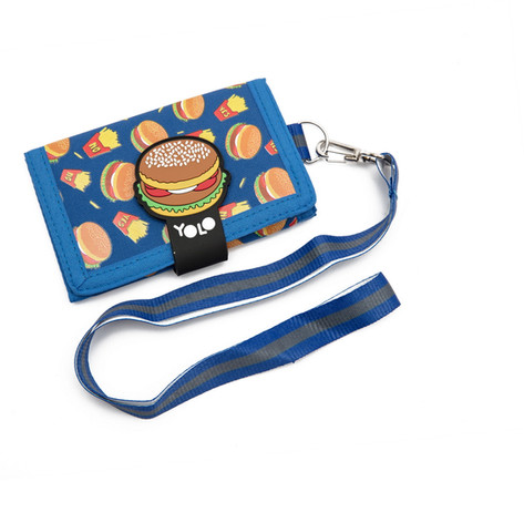 Velcro wallet with string hamburger