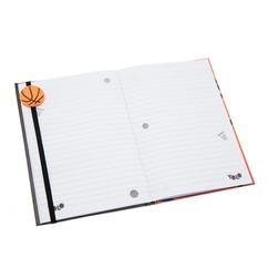 Basketball A5 diary open