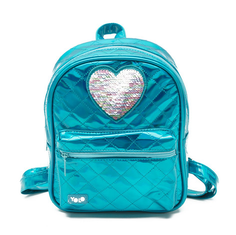Holographic fashion bag heart