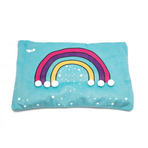 Heat rainbow pillow
