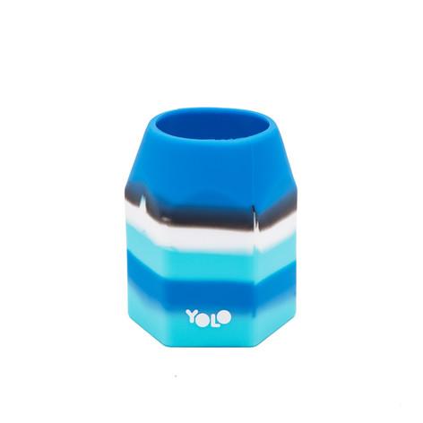 Silicon blue pen holder