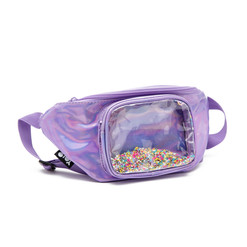 Waist pouch with sprinkles purple