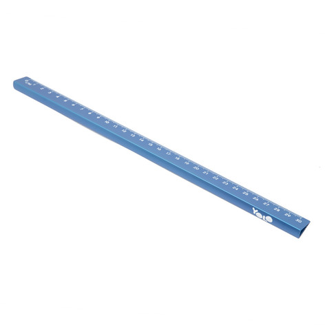 15/30 cm metallic ruler blue