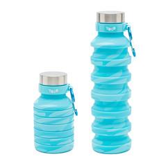 Silicon camoflage light blue bottle