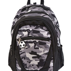 2 in 1 Camouflage backpack black