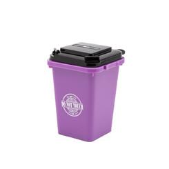 Trash can pen holder purple