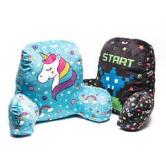 Gaming and unicorn lounge pillows