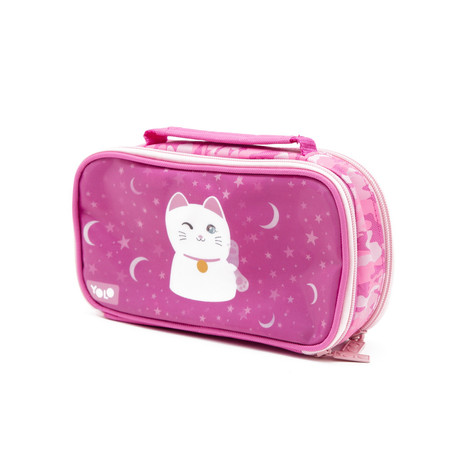 Suitcase lenticular lucky cat