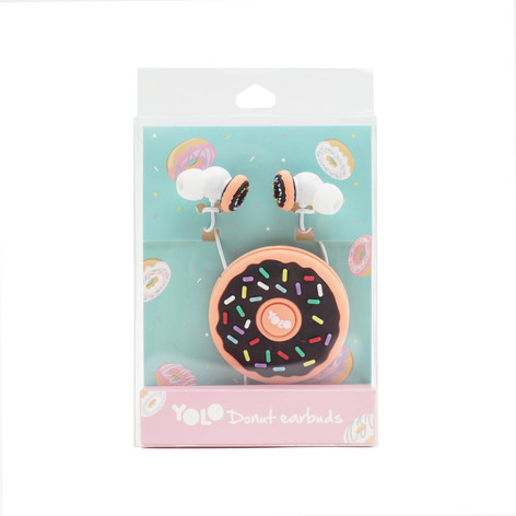 Earbuds with cable organizer donut