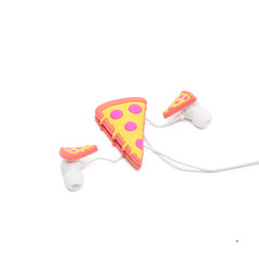Earbuds with cable organizer pizza