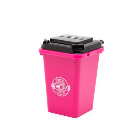Trash can pen holder pink