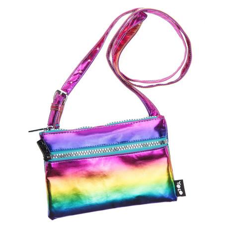 Metalic rainbow shoulder bag