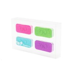 YOLO basic erasers set