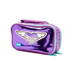 Suitcase winged heart