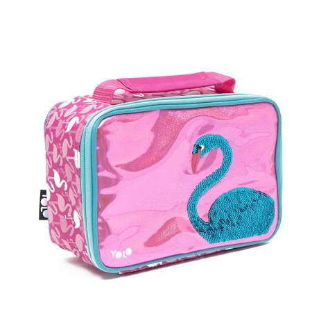Rectangle flamingo sequin lunch bag