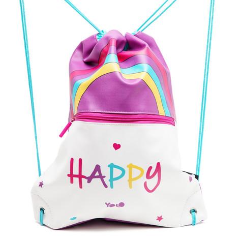 Drawstring bag happy rainbow