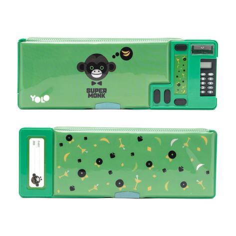 Retro calculator hero monkey