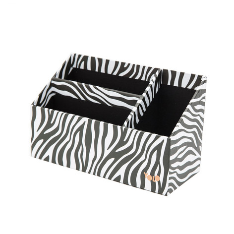 Zebra table organizer